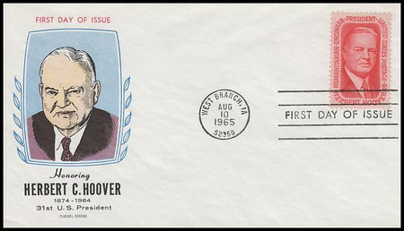 1269 / 5c Herbert Hoover 1965 Fluegel First Day Cover