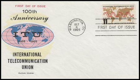 1274 / 11c International Telecommunication Union 1965 Fluegel FDC