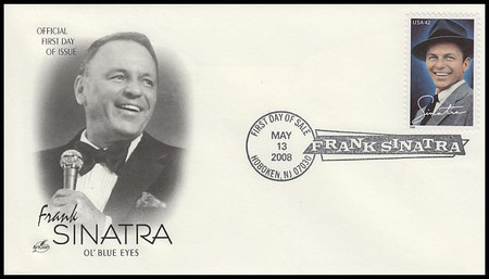 4265 / 42c Frank Sinatra Hoboken, NJ First Day of Sale Cancel 2008 Artcraft FDC