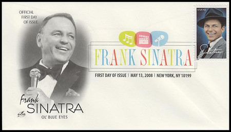 4265 / 42c Frank Sinatra New York, NY Digital Color Postmark 2008 Artcraft First Day Cover