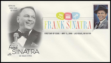 4265 / 42c Frank Sinatra Las Vegas, NV Digital Color Postmark 2008 Artcraft First Day Cover