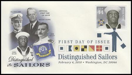 4440 - 4443 / 44c Distinguished Sailors Set of 4 Digital Color Postmark Artcraft 2010 FDCs