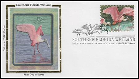4099a-j / 39c South Florida Wetlands - The Everglades : Nature of America Series Set of 10 Colorano Silk  2006 FDCs
