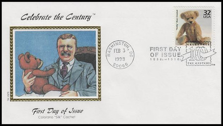 3182a-o / 32c Celebrate The Century ( CTC ) 1900s Set of 15 Colorano Silk 1998 FDCs