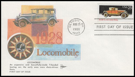 2381 - 2385 / 25c Classic Automobiles Booklet Set of 5 Gill Craft 1988 FDCs