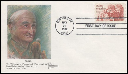 2011 / 20c Aging Together 1982 Gill Craft Full Color First Day Cover