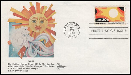 2006 - 2009 / 20c Knoxville World's Fair Set of 4 Gill Craft 1982 FDCs