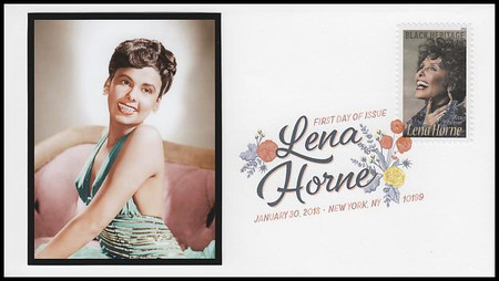 5259 / 50c Lena Horne Digital Color Postmark FDCO Exclusive 2018 FDC