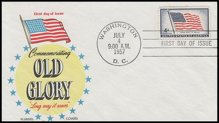 1094 / 4c Old Glory 1957 Fluegel First Day Cover
