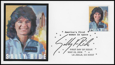 5283 / 50c Sally Ride :  First American Woman In Space FDCO Exclusive 2018 First Day Cover #3