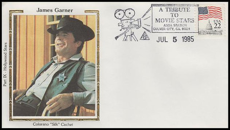 James Garner : ASDA Tribute To Movie Stars Colorano Silk 1985 Event Cover