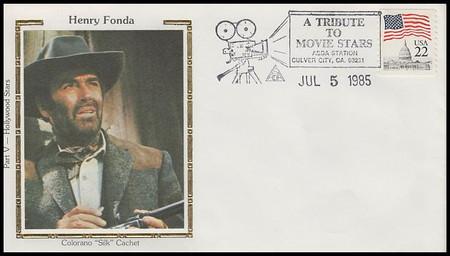 Henry Fonda : ASDA Tribute To Movie Stars Colorano Silk 1985 Event Cover