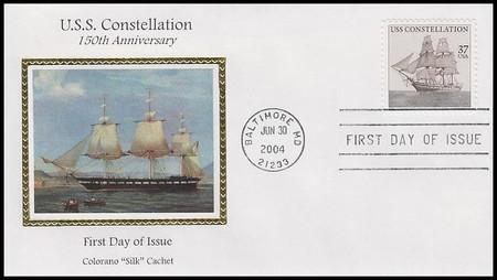 3869 / 37c U.S.S. Constellation 2004 Colorano Silk First Day Cover
