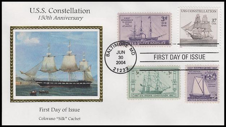 3869 / 37c U.S.S. Constellation 2004 Combo Colorano Silk First Day Cover