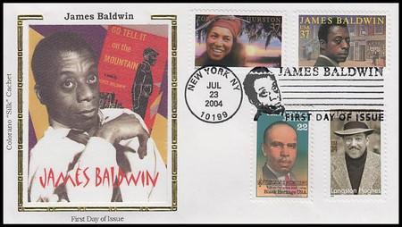 3871 / 37c James Baldwin : Literary Arts 2004 Combo Colorano Silk First Day Cover