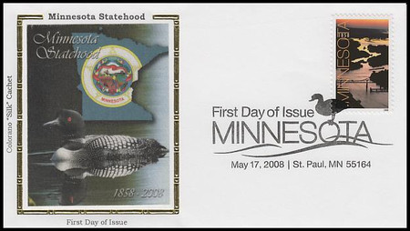4266 / 42c Minnesota Statehood 2008 Colorano Silk First Day Cover