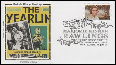 4223 / 41c Marjorie Kinnan Rawlings : Literary Arts Series 2008 Colorano Silk First Day Cover