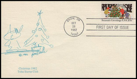 2027 - 2030 / 20c Seasons Greetings : Contemporary Christmas 1982 Tulsa Stamp Club