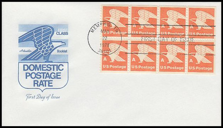 "1736a / 15c ""A"" Eagle Booklet of 8 Artmaster 1978 First Day Cover"