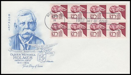 1288bc / 15c Oliver Wendell Holmes : Prominent Americans Series Booklet of 8 Artmaster 1978 First Day Cover