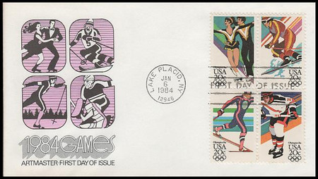 2070a / 20c Winter Olympic Games Se-Tenant Block Artmaster 1984 First Day Cover