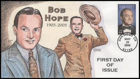 4406 / 44c Bob Hope :  Legend of Hollywood 2009 Collins Hand-Painted FDC