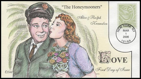 3999 / 63c Wedding Doves : Romantic Couples of the World: The Honeymooners 2006 Collins Hand-Painted FDC