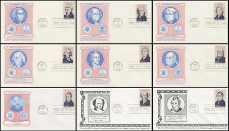 2216a - 2219i / 22c Presidents Ameripex '86 Set of 36 All - AFDCS Chapters Project 1986 FDCs