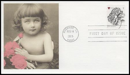 4959 / 49c Vintage Rose : Wedding Series 2015 Fleetwood First Day Cover