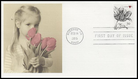 4960 / 70c Vintage Tulip : Wedding Series 2015 Fleetwood First Day Cover