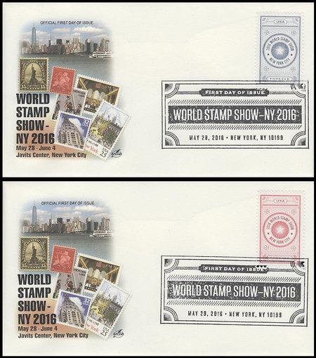 5062 - 5063 / 47c World Stamp Show Set of 2 Artcraft 2016 FDCs