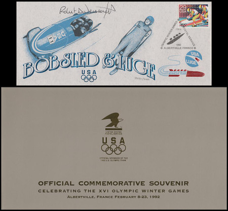 2611 - 2615 / 1992 Olympic Winter Games Official USPS Commemorative Souvenir Set of 6 Autographed Covers In Presentation Folders