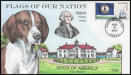 4323 - 4332 / 45c Flags Of Our Nation : Dogs Of America Set of 10 Collins Hand-Painted 2012 FDCs