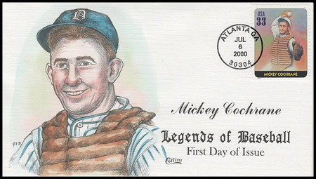 3408a - t  / 33c Legends of Baseball : Greatest Players Set of 20 Collins Hand-Painted 2000 FDCs