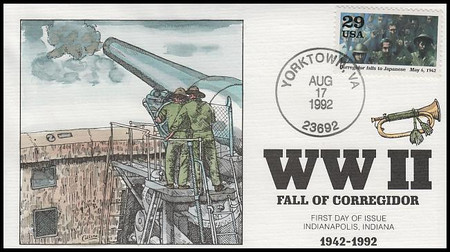 2697a - j / 1942 :  Into the Battle  Set of 10 : World War II / WWII Series 1992 Collins Hand-Painted FDCs
