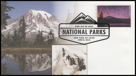 5080b / 47c National Parks Centennial : Mount Rainier National Park Fleetwood 2016 FDC