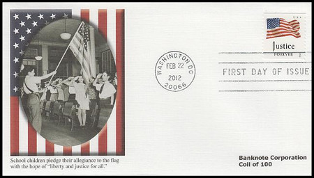 4637 - 4640 / 45c Four Flags : Banknote Corp. Coil Set of 4 w/ PNC Fleetwood 2012 FDCs