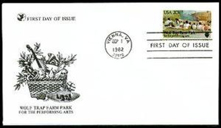 2018 / 20c Wolf Trap Farm Park 1982 Reader's Digest FDC