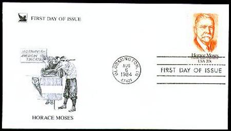 2095 / 20c Horace A. Moses : Junior Achievement 1984 Reader's Digest FDC