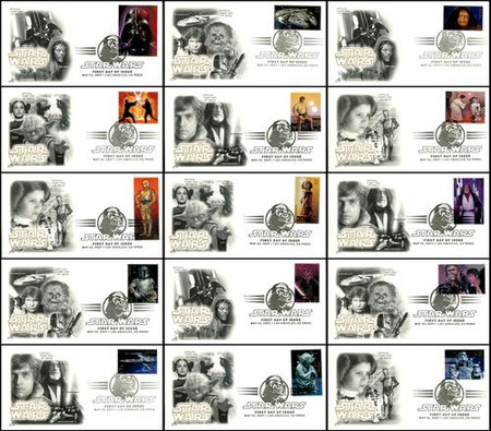 4143a-o / 41c Star Wars Set of 15 Artcraft 2007 First Day Covers