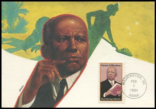 2073 / 20c Carter G. Woodson : Black Heritage Series 1984 Fleetwood Maximum Card