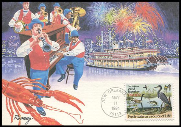 2086 / 20c Louisiana World Exposition 1984 Fleetwood Maximum Card