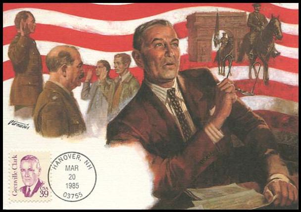 1867 / 39c Grenville Clark : Great Americans Series 1985 Fleetwood Maximum Card