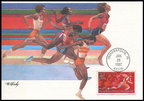 2247 / 22c Pan American Games 1987 Fleetwood First Day of Issue Maximum Card