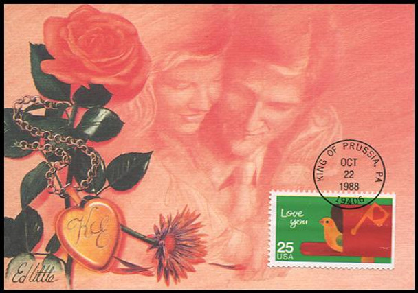 2395 - 2398 / Special Occasions Set of 4 Fleetwood 1988 First Day of Issue Maximum Card