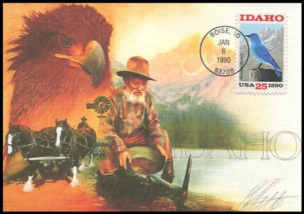 2439 / 25c Idaho Statehood : Statehood Series 1990 Fleetwood First Day of Issue Maximum Card