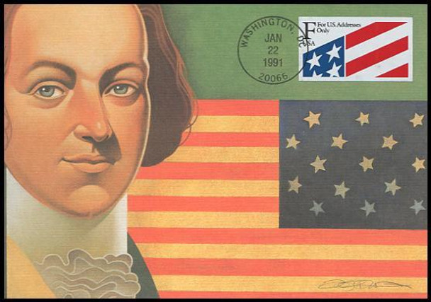 2522 / F Rate ( 29c ) Flag PSA 1991 Fleetwood First Day of Issue Maximum Card