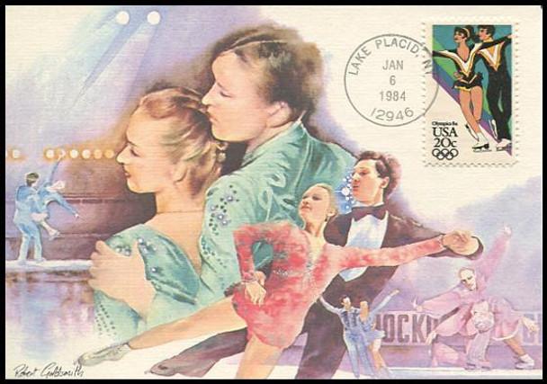 2067 - 2070 / 20c Winter Olympic Games 1984 Set of 4 Fleetwood Maximum Cards