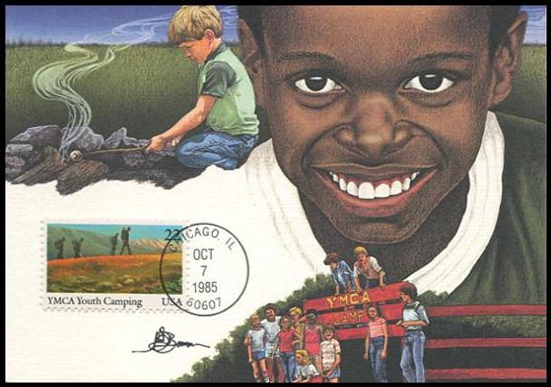 2160 - 2163 / 22c International Youth Year Set of 4 Fleetwood 1985 Maximum Card