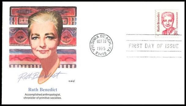 2938 / 46c Ruth Benedict - Anthropologist 1995 Fleetwood FDC